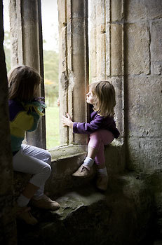 VALLECRUCIS two girls in window.jpg